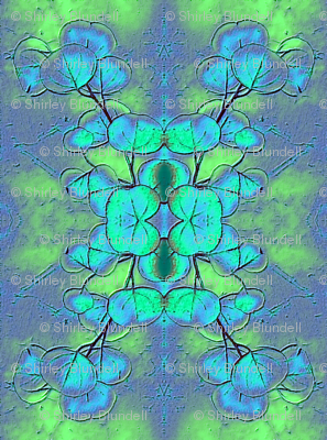 bluegum leaves_inverted and mirror imaged