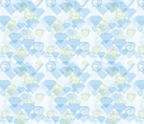 Geodes and Diamonds fabric by vinpauld on Spoonflower - custom fabric