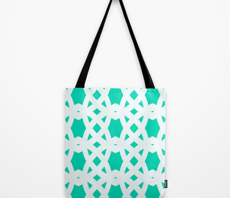 Arabic Lattice in Aqua