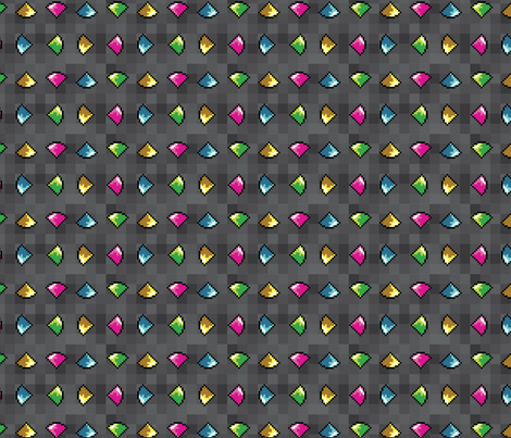 Key Gems fabric by kritterstitches on Spoonflower - custom fabric