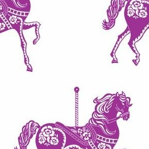 Carousel Horse in Perfectly Purple