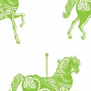 Carousel Horse in Galloping Green