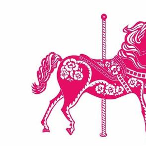 Carousel Horse in Prancing Pink