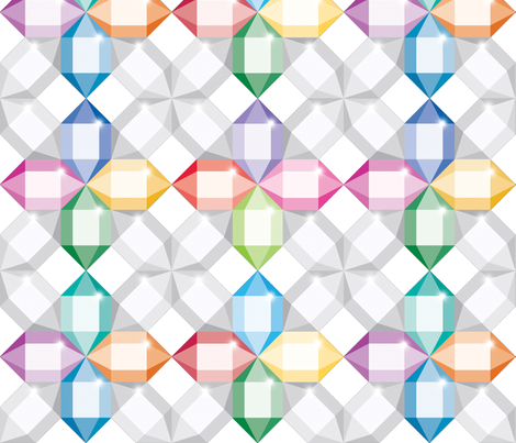 Gems fabric by melhales on Spoonflower - custom fabric