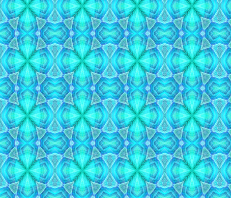 blue geometric floral pattern