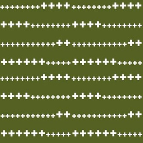 grass green swiss cross
