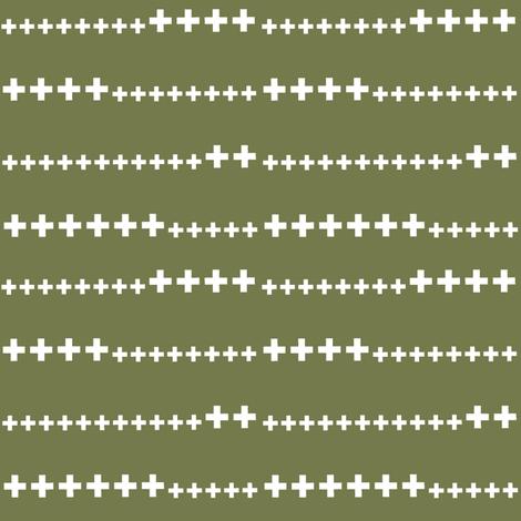 frog prince green swiss cross fabric by ali*b on Spoonflower - custom fabric