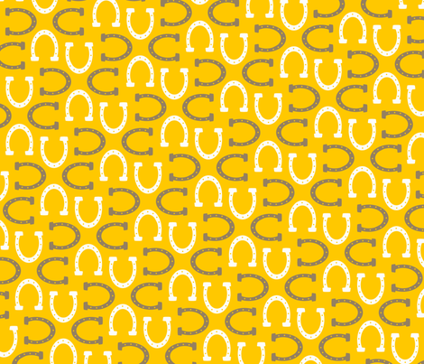 Horsing Around: Sunshine fabric by nadiahassan on Spoonflower - custom fabric