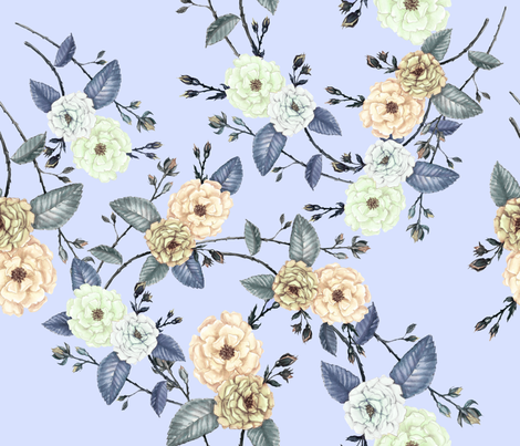 Garden Party Roses fabric by thistleandfox on Spoonflower - custom fabric
