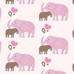 Momma & Baby Elephant