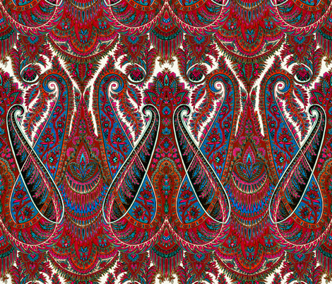 Paisley Sublime ~The Traveler fabric by peacoquettedesigns on Spoonflower - custom fabric
