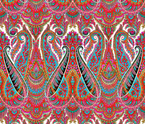 Paisley Sublime ~ The Bohemian fabric by peacoquettedesigns on Spoonflower - custom fabric