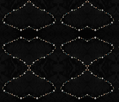 Pearls on Velvet Mountains fabric by dkdemott on Spoonflower - custom fabric