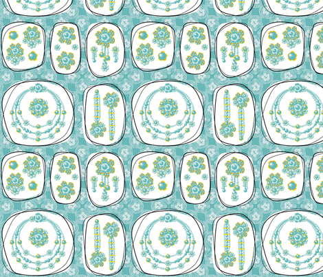 Glorious Gloria's Fabulous Gems fabric by moirarae on Spoonflower - custom fabric