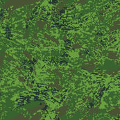 Woodland Tropical Jungle Digital Brush Camo