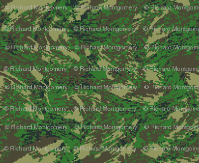 Woodland Temperate Digital Brush Camo