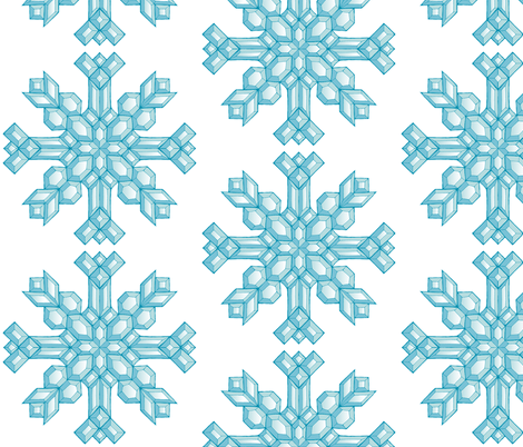 Diamond Snowflakes fabric by art_rat on Spoonflower - custom fabric