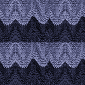BLUE KNIT WAVES