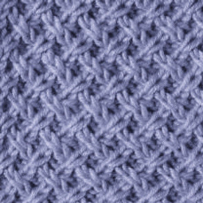 BLUE KNITTING QUILT
