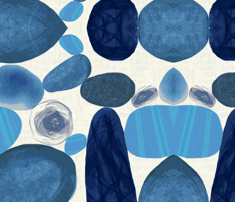 Bluestone fabric by chrissyink on Spoonflower - custom fabric