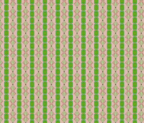 Emerald Deco Stripe fabric by anderson_designs on Spoonflower - custom fabric