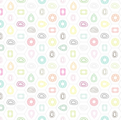 gem_and_stones fabric by axelle_design on Spoonflower - custom fabric