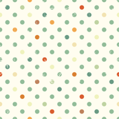 Vintage Dots in Mint and Orange