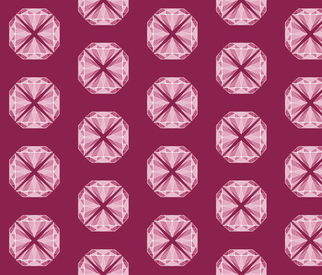 Rose Diamond Flowers fabric by aubgerineandpurple on Spoonflower - custom fabric