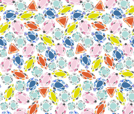 Girl's best friend fabric by zapi on Spoonflower - custom fabric