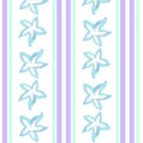 Blue Starfish Stripe