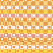 Orange, Yellow, Pink & White Checked Pattern
