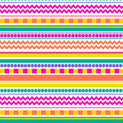 Bright, Funky & Colorful Striped Pattern Design