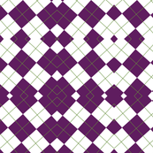 Purple & White Geometric Abstract Design