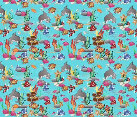 teasure_island fabric by vedanta on Spoonflower - custom fabric