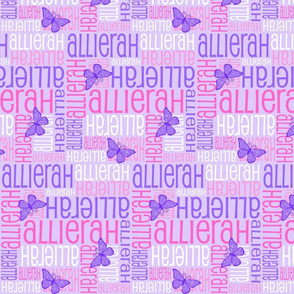 Personalised Name Design - Butterfly Purples Pinks
