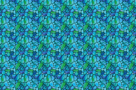 Turquoise fabric by cassiopee on Spoonflower - custom fabric