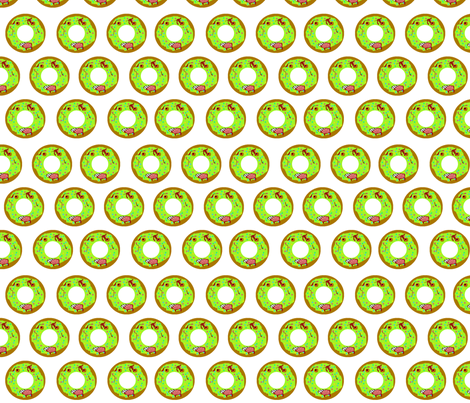 Zombie Donut fabric by dynamiteneedleworks on Spoonflower - custom fabric