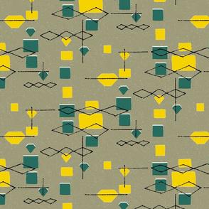 Mid Century Diamonds and Squares 2