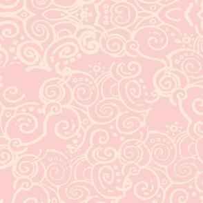 curl of smoke pink retro
