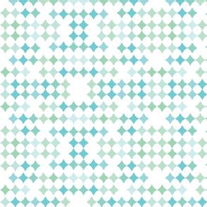 Rainbow stars-mint and blue