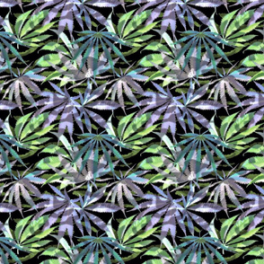 Camo 420 Leaf Blue