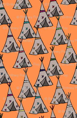 Teepee City Orange