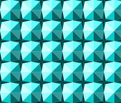 Gems in aqua fabric by martaharvey on Spoonflower - custom fabric
