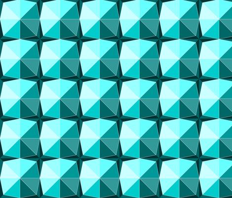 Gems in aqua fabric by martaharvey on Spoonflower - custom fabric