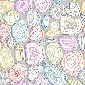 pastel geodes