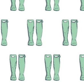 Rain Boots- Mint