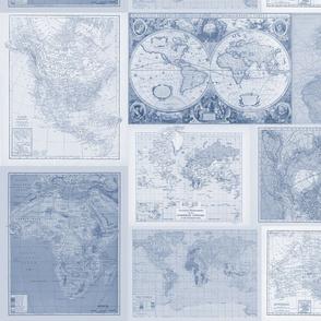 Insta-quilt Blue maps