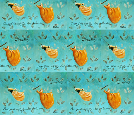 Even If She Can't Fly, Her Clothes Can fabric by cynthiatom on Spoonflower - custom fabric