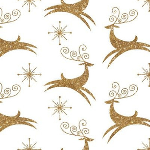 Glitter Reindeer- Jingle Bells Gold