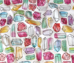 Watercolor Gemstones (large)